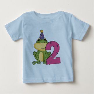 Camiseta Para Bebê T-shirt e presentes do segundo aniversário do sapo