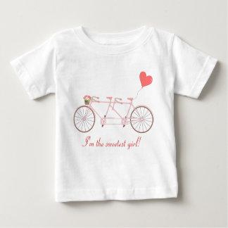 Camiseta Para Bebê T-shirt em tandem do bebê da bicicleta