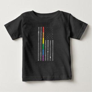 Camiseta Para Bebê T-shirt escuro do jérsei do bebê americano da