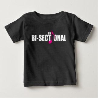 Camiseta Para Bebê T-shirt escuro do jérsei do bebê Bisectional