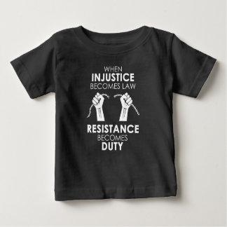 Camiseta Para Bebê T-shirt escuro do jérsei do bebê da injustiça