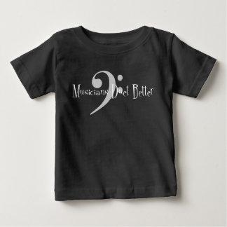 Camiseta Para Bebê T-shirt escuro do jérsei do bebê do dueto (baixo)