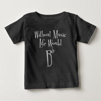 Camiseta Para Bebê T-shirt escuro do jérsei do bebê liso de B