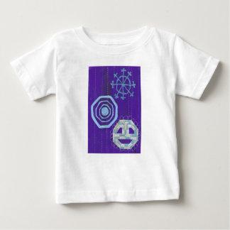 Camiseta Para Bebê T-shirt especial do bebê do floco de neve