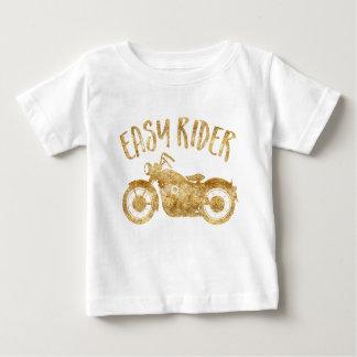 Camiseta Para Bebê T-shirt fácil do impressão do brilho do ouro do