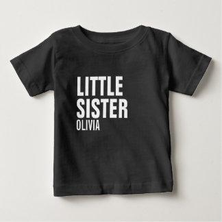 Camiseta Para Bebê T-shirt feito sob encomenda do bebê da irmã mais