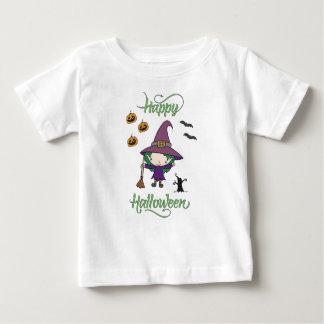 Camiseta Para Bebê T-shirt feliz do Dia das Bruxas