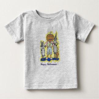 Camiseta Para Bebê t-shirt feliz do Dia das Bruxas dos miúdos