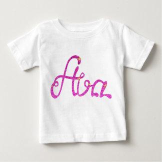 Camiseta Para Bebê T-shirt fino Ava do jérsei do bebê