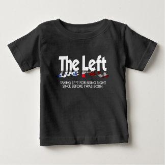 Camiseta Para Bebê T-shirt fino do jérsei do bebê - a esquerda,