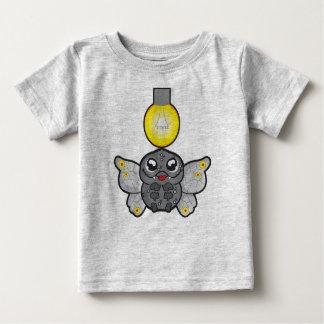 Camiseta Para Bebê T-shirt fino do jérsei do bebê, cinza da urze com