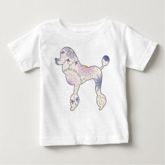 Camiseta Para Bebê T-shirt fino do jérsei do bebê com caniche do