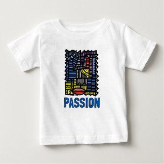 """Camiseta Para Bebê T-shirt fino do jérsei do bebê da """"paixão"""""""