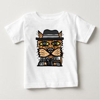 """Camiseta Para Bebê T-shirt fino do jérsei do bebê do """"gângster"""""""