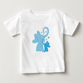 Camiseta Para Bebê T-shirt fino do jérsei do bebê - elefantes