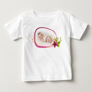 Camiseta Para Bebê T-shirt fino do jérsei do bebê pequeno do sono do