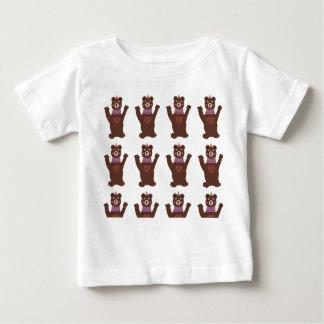 Camiseta Para Bebê T-shirt fino do jérsei do bebê, ursos brancos