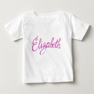 Camiseta Para Bebê T-shirt fino Elizabeth do jérsei do bebê