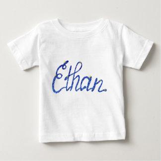 Camiseta Para Bebê T-shirt fino Ethan do jérsei do bebê