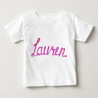 Camiseta Para Bebê T-shirt fino Lauren do jérsei do bebê