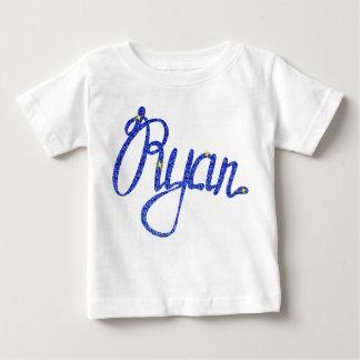 Camiseta Para Bebê T-shirt fino Ryan do jérsei do bebê