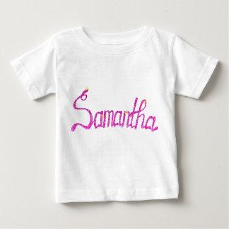 Camiseta Para Bebê T-shirt fino Samantha do jérsei do bebê