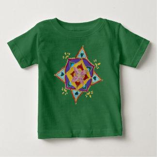 Camiseta Para Bebê T-shirt floral do jérsei da multa do bebê do teste