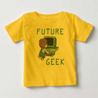 Camiseta Para Bebê T-shirt futuro do geek