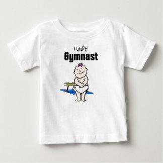 Camiseta Para Bebê T-shirt futuros do bebê da estrela da ginástica &