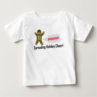 Camiseta Para Bebê T-shirt Gassy do homem de pão-de-espécie do Natal