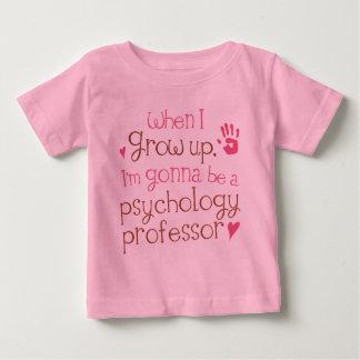 Camiseta Para Bebê T-shirt infantil do professor da psicologia