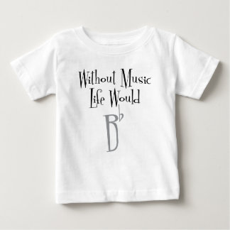 Camiseta Para Bebê T-shirt liso do jérsei do bebê de B
