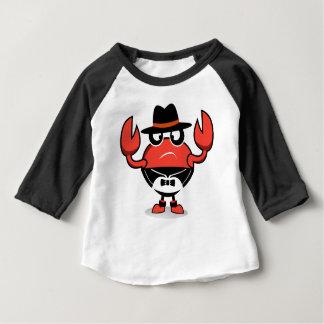 Camiseta Para Bebê t-shirt modelo do caranguejo