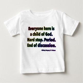 Camiseta Para Bebê T-shirt norte do jérsei da multa do bebê de