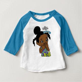 Camiseta Para Bebê T-shirt ocupado do Raglan do bebê de Bri