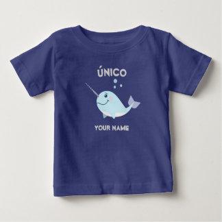 """Camiseta Para Bebê """"T-shirt original/do único"""" bebê com Narwhal"""