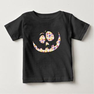 Camiseta Para Bebê T-shirt pateta da cara da abóbora