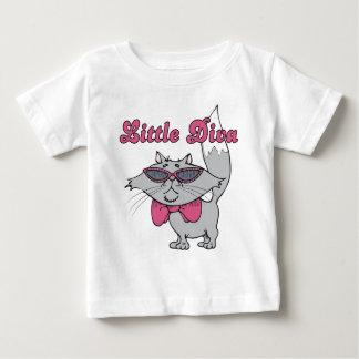 Camiseta Para Bebê T-shirt pequeno do bebê/criança da diva