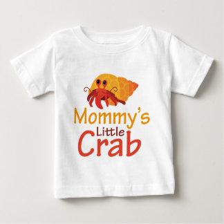 Camiseta Para Bebê T-shirt pequeno do bebê do caranguejo da mamã