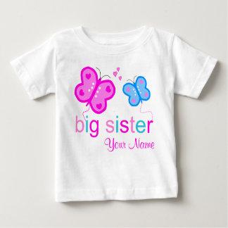 Camiseta Para Bebê T-shirt personalizado borboleta da irmã mais velha