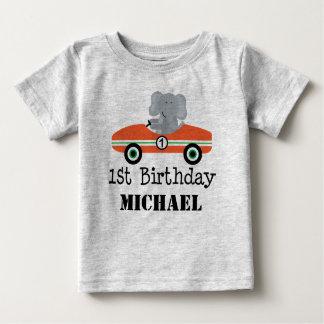 Camiseta Para Bebê T-shirt personalizado carro de corridas do