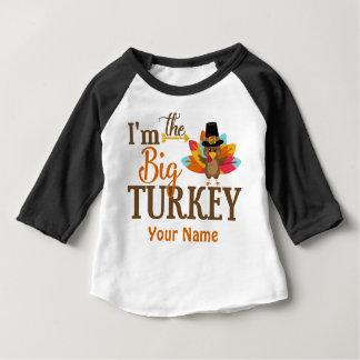 Camiseta Para Bebê T-shirt personalizado de Turquia acção de graças