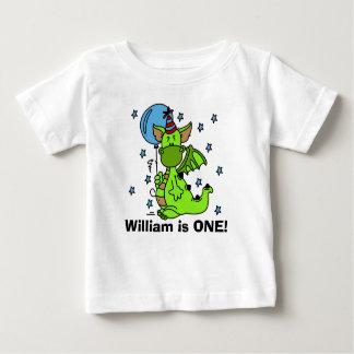 Camiseta Para Bebê T-shirt personalizado do aniversário do dragão