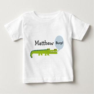 Camiseta Para Bebê T-shirt personalizado do jacaré das crianças