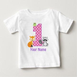 Camiseta Para Bebê T-shirt personalizado floresta do primeiro