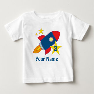 Camiseta Para Bebê T-shirt personalizado Rocket do segundo