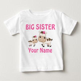 Camiseta Para Bebê T-shirt personalizados vaca da irmã mais velha