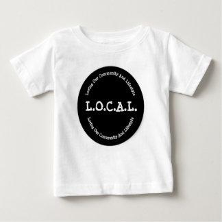Camiseta Para Bebê T-shirt preto e branco do bebê de L.O.C.A.L