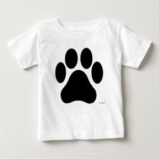 Camiseta Para Bebê T-shirt preto e branco do bebê do impressão da