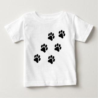 Camiseta Para Bebê T-shirt preto e branco do bebê do teste padrão do